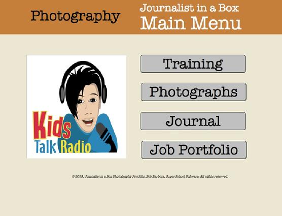 Kids Talk Radio, Photography ePortfolio